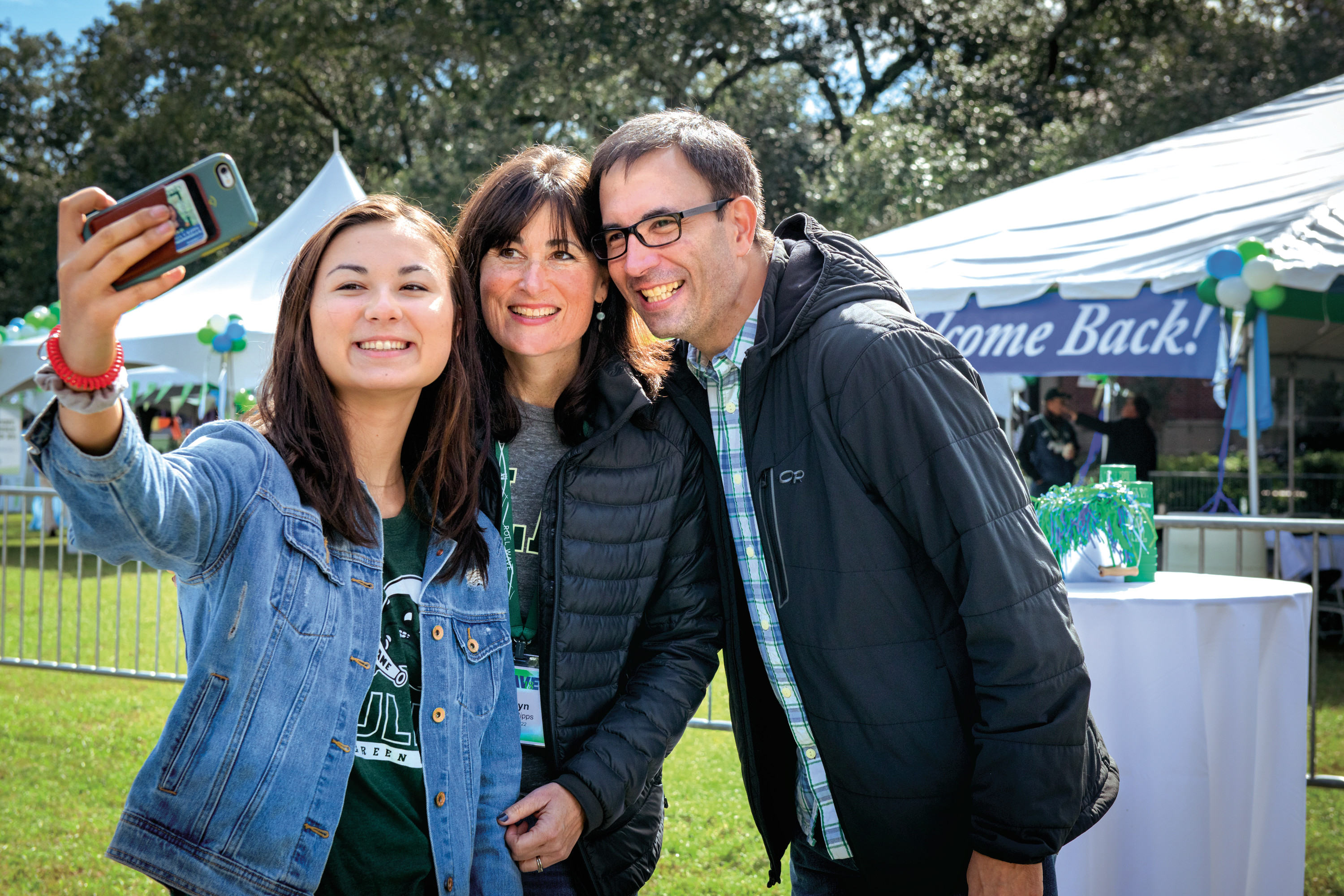 Family at Homecoming weekend.
